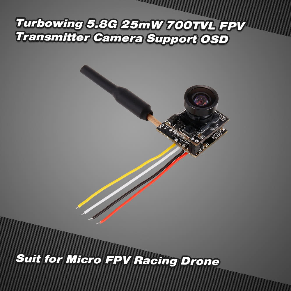 Turbowing 58g 48ch 25mw Ntsc Pal 700tvl Fpv Transmitter Camera 120 2 Way Video Switch Lens Support Osd For Inductrix Qx90 Micro Racing Drone Sale Us1799 Tomtop