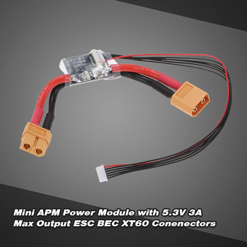 Mini Apm Flight Control Board Power Module Kit With 53v 3a Max Esc Gm Wiring Harness Output Bec Xt60 Conenectors For Sale Us77 Tomtop