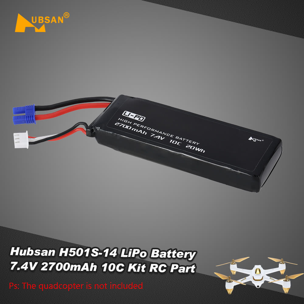 Original Hubsan H501s 14 Lipo Battery 74v 2700mah 10c Kit Rc Part Wiring Diagram For Quadcopter