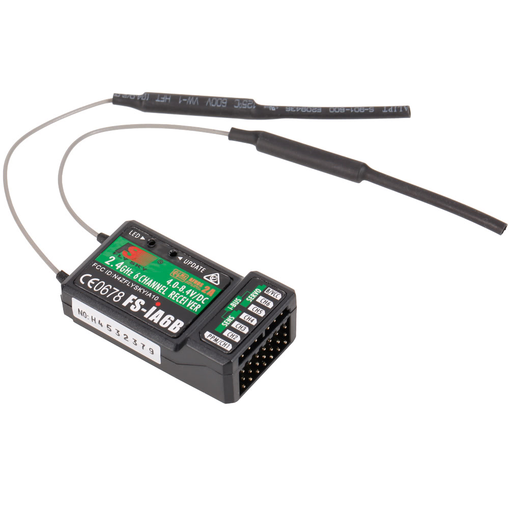 Flysky FS-i6X 2 4GHz 6CH AFHDS 2A RC Transmitter with FS-iA6B Receiver for  RC Drone Airplane Helicopter