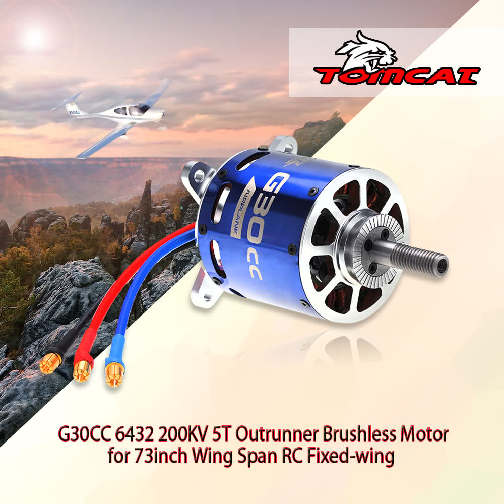 Tomcat g30cc 6432 200kv 5t outrunner brushless motor for for Brushless motors for sale