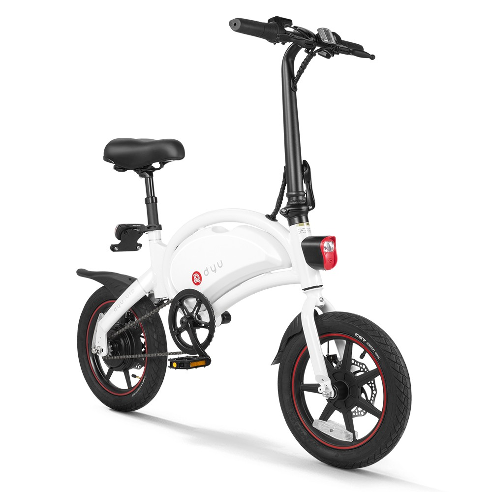 Tomtop - [UK Warehouse] $163 OFF DYU D3+14 Inch Folding Power Assist Electric Bicycle, Free Shipping $595.23
