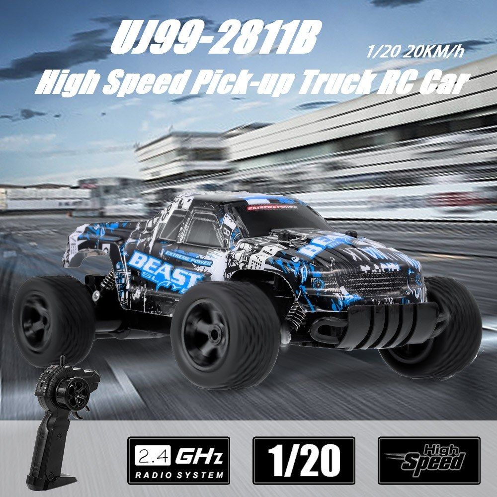 UJ99-2811B 1/20 2 4G 20KM/h High Speed Pick-up Truck RC Car for Sale -  US$21 44 blue | Tomtop