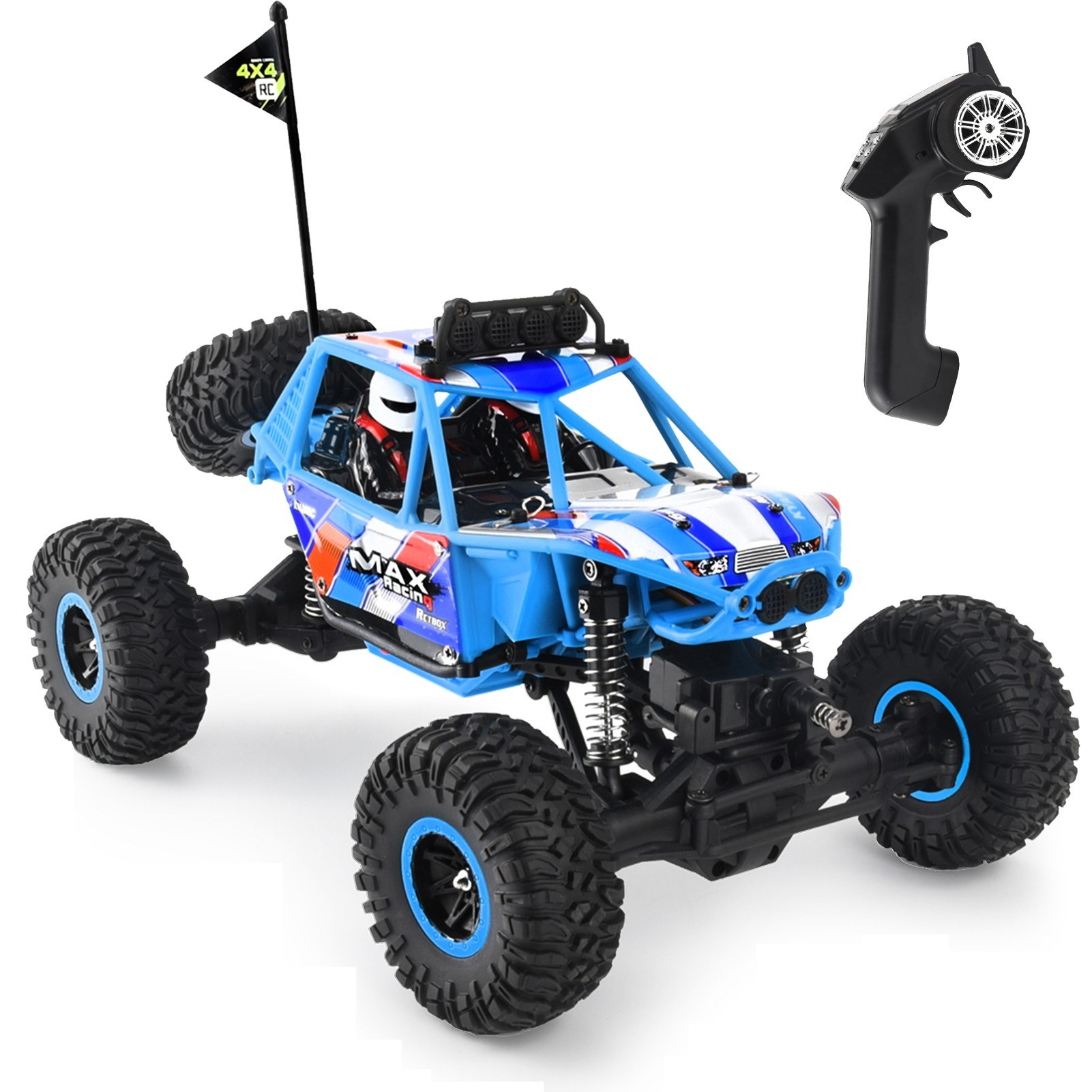 cafago.com - 58% OFF KY-2816A RC Car 2.4Ghz 1:16 4WD Racing Climbing Vehicle Off Road RC Trucks,free shipping+$70.66