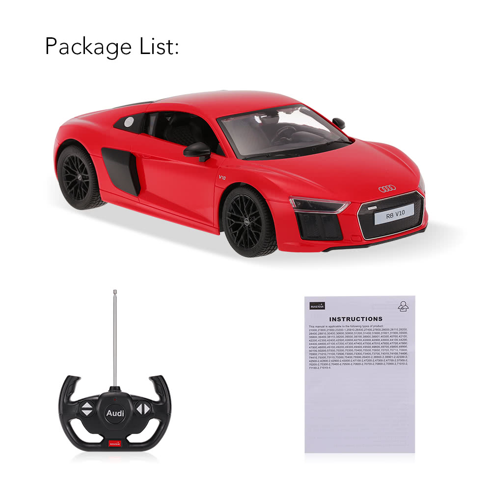 RASTAR AUDI R Remote Controlled Sport Racing Car RTR RC - Audi remote control car