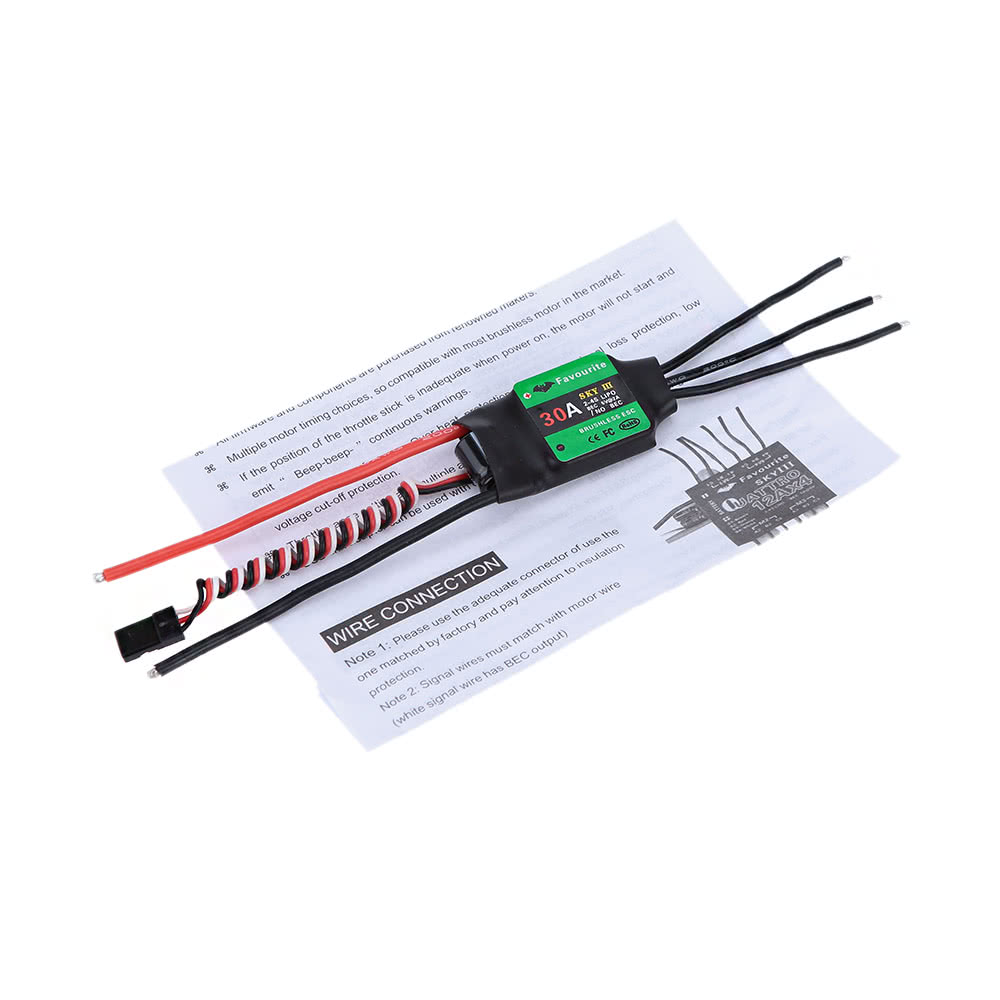 Favourite Eagle Series Sky 3 30A 2-4S LiPo Battery Brushless Motor  Electronic Speed Controller ESC with BLHELI Program for DIY RC F450 F550  Quadcopter