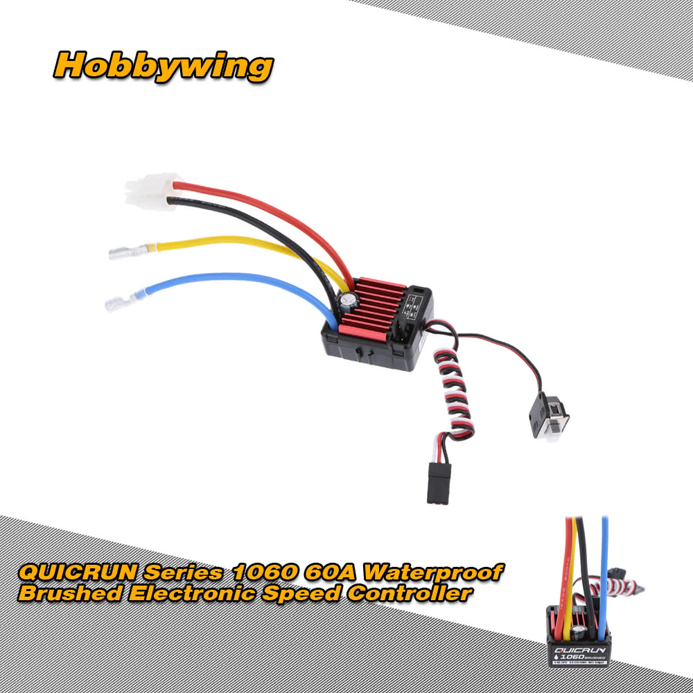 Hobbywing QUICRUN Series 1060 60A Waterproof Brushed ...