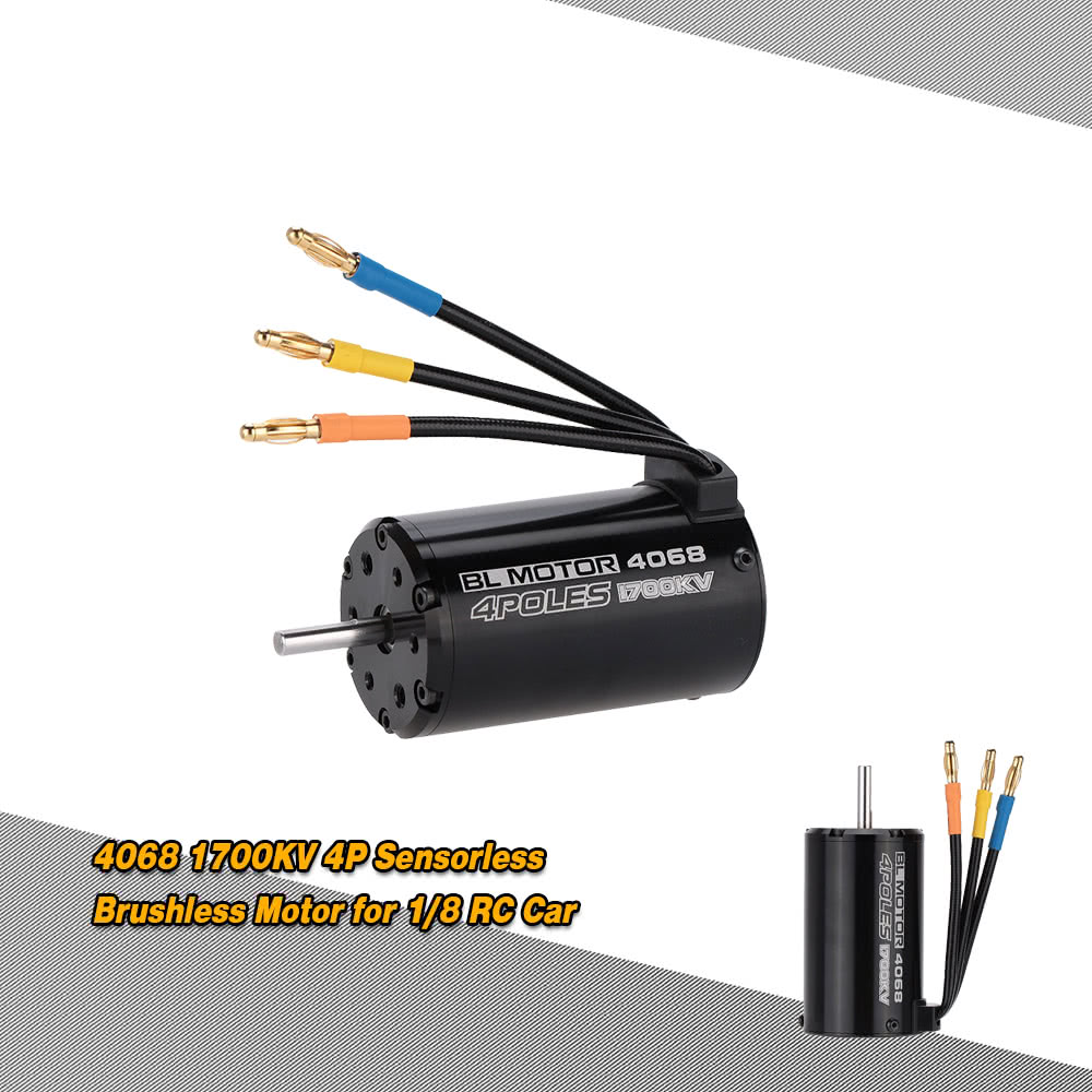 4068 1700kv 4p sensorless brushless motor for 1 8 rc car for Brushless motors for sale