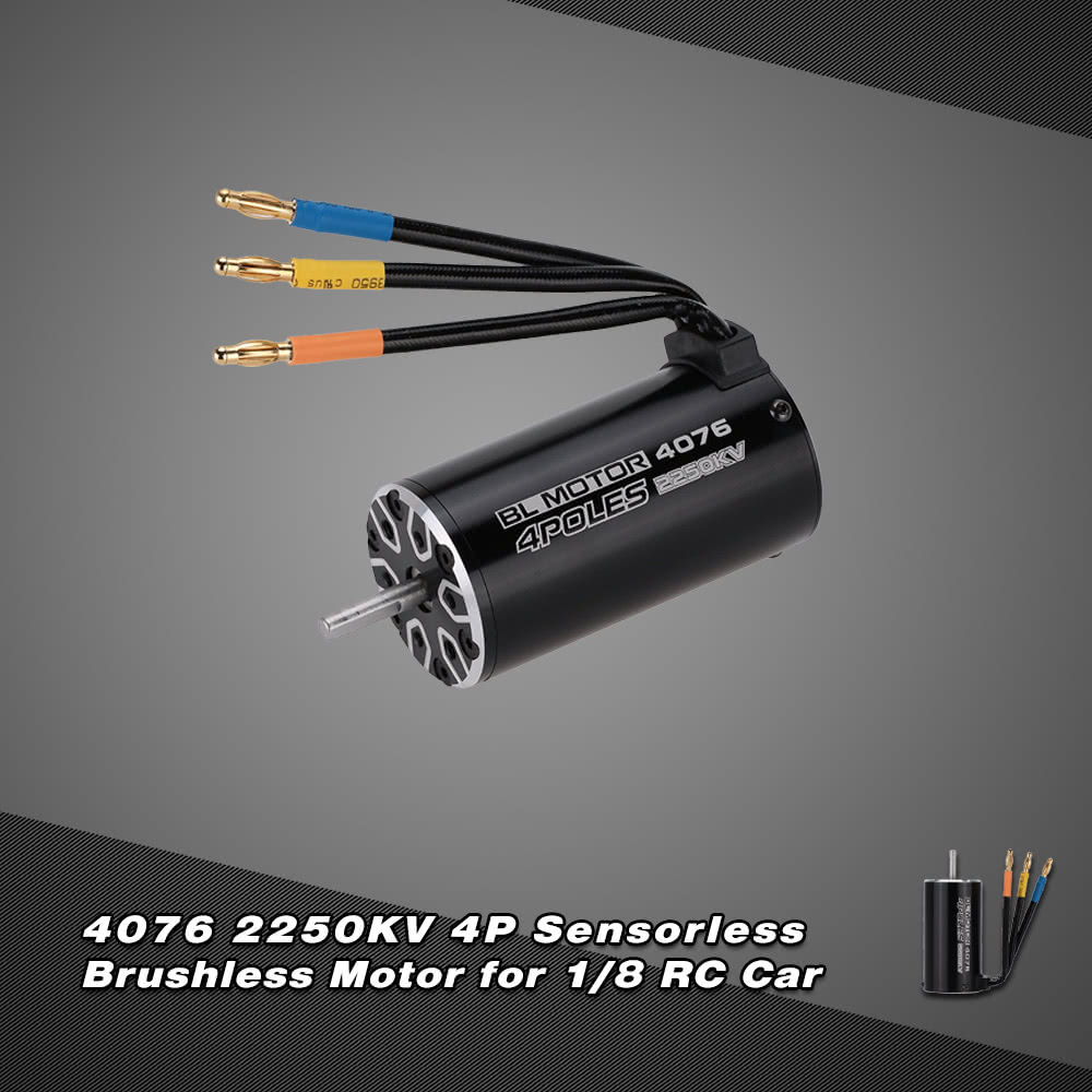 4076 2250kv 4p sensorless brushless motor for 1 8 rc for Brushless motors for sale