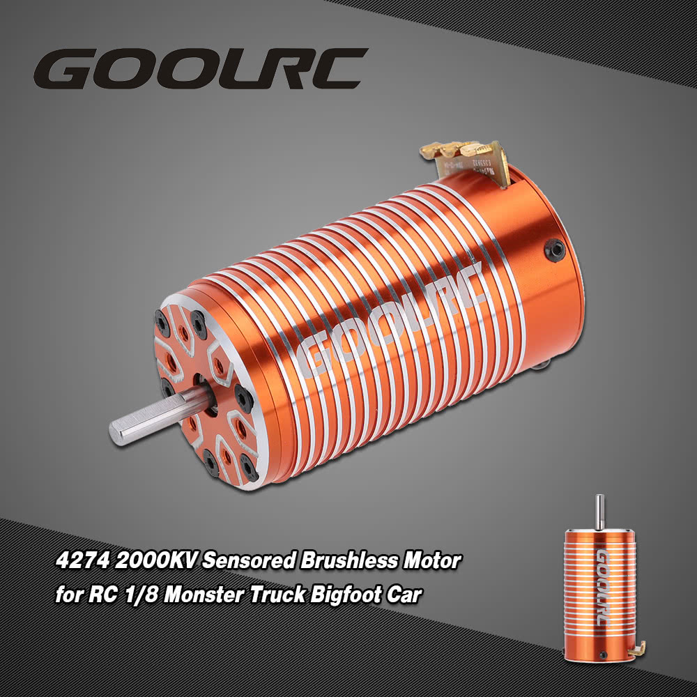 goolrc 4274 2000kv 4 poles sensored brushless motor for rc