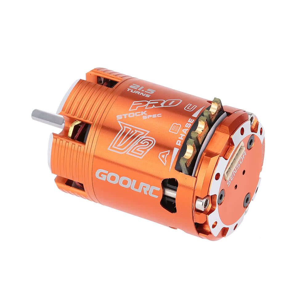 Goolrc 540 21 5t 1760kv sensored brushless motor for 1 10 for Brushless motors for sale