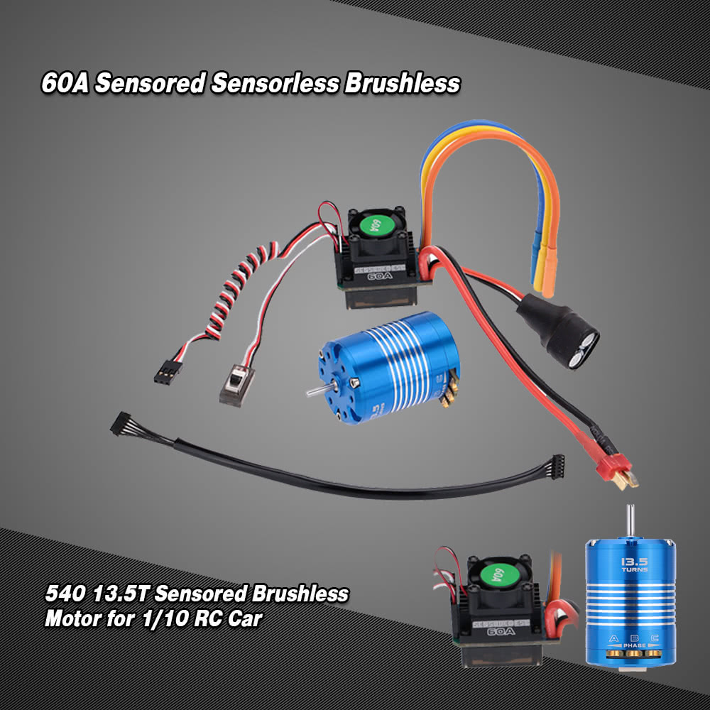 60a sensored sensorless brushless electronic speed for Brushless motors for sale