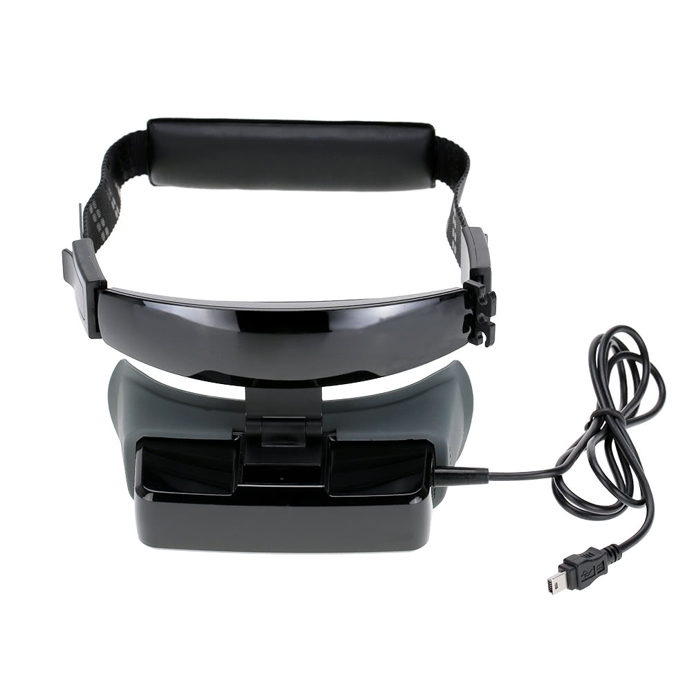 Vision-600 80inch Widescreen 3D Goggles Headset 430 * 240 TFT LCD Video  Glasses Support Virtual Retinal Display for FPV Aerial Photography