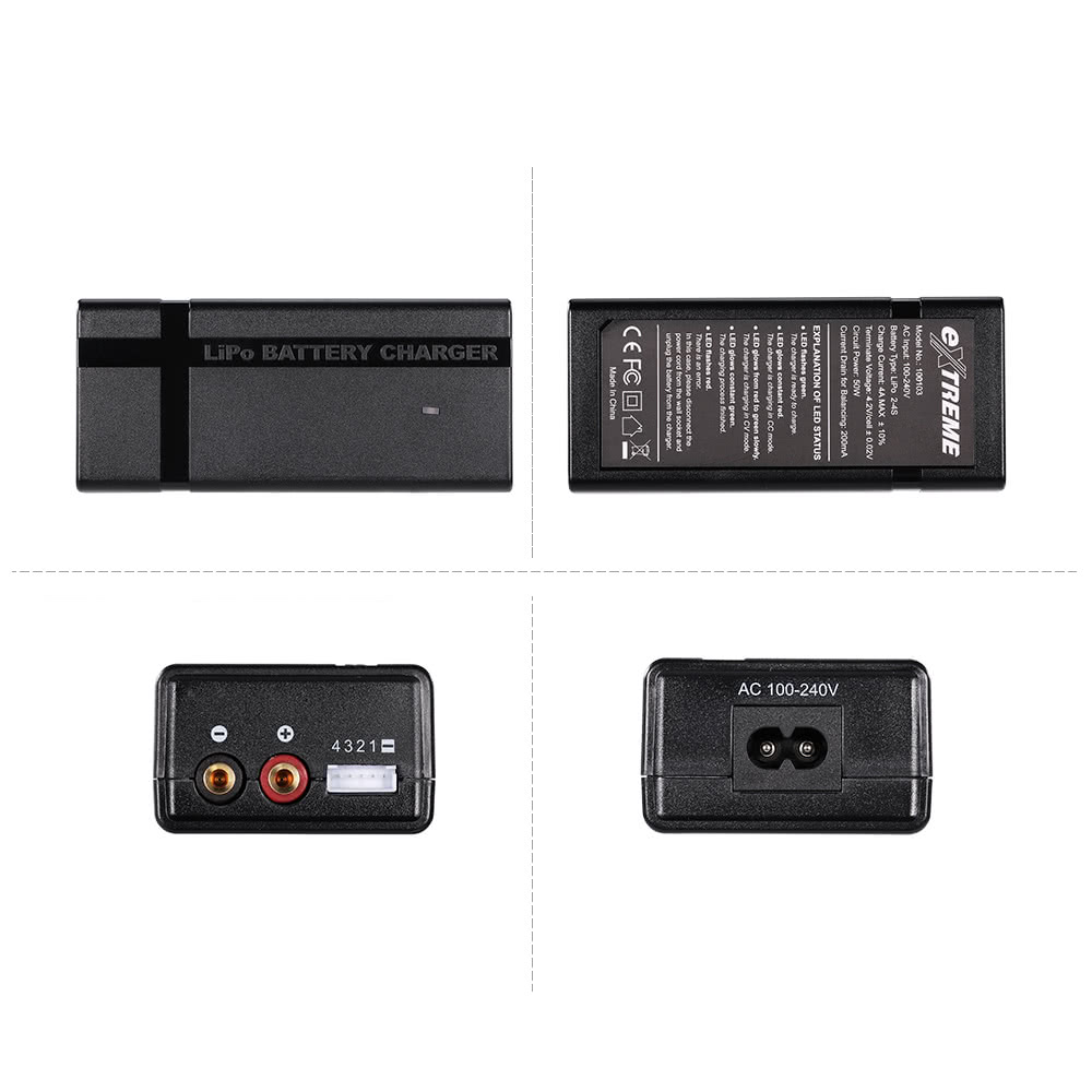EXTREME 2-4S LiPo Battery Balance Charger for RC Quadcopter Helicopter RC  Car Boat Lipo Battery