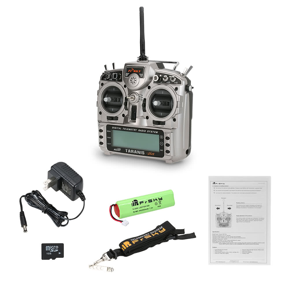 Original FrSky Taranis X9D Plus 2 4G ACCST 16CH Telemetry Radio Transmitter  Open TX Mode 2 for RC Quadcopter Helicopter Airplane