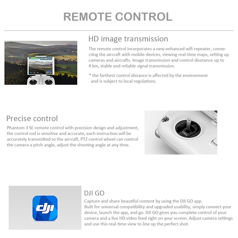 Best Original Dji Phantom 3 Se Wifi Fpv 4k Uhd Camera Sale Online 2 Vision Central Circuit Board Rc Hobbies Anti Drop Kit 4 Vibration Absorber Landing Pad 1 Propeller Removal Clamp 5 Sticker Manual Set