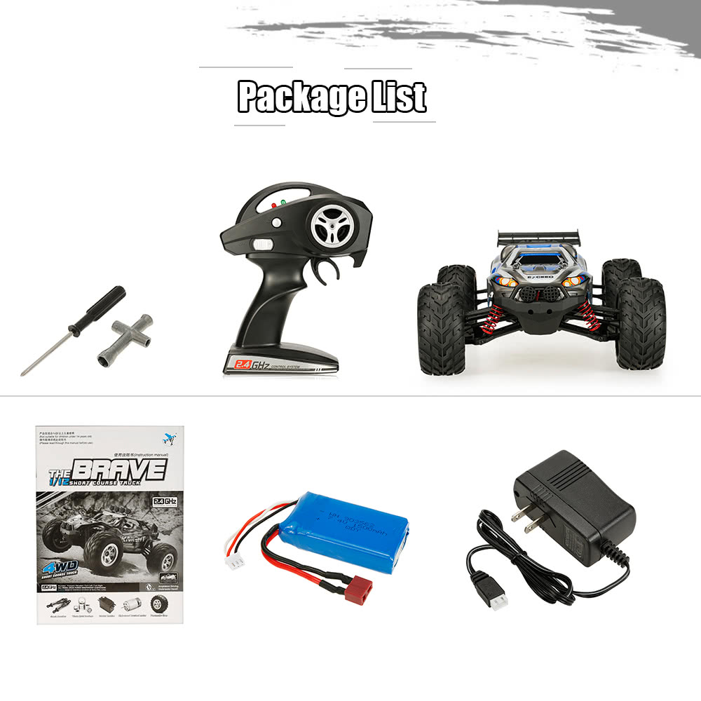 Feiyue FY-10 BRAVE 1/12 2 4G 4WD 30km/h High Speed Electric Power  Cross-country RTR Short Course Truck RC Car
