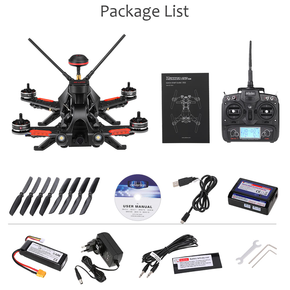 Walkera Runner 250 Pro 58g Fpv Racing Drone Rc Quadcopter Rtf Eu Plug