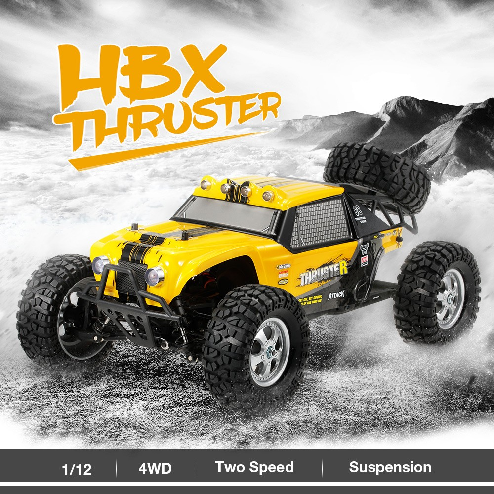 Best HBX 12889 1/12 2 4G 4WD Two Speed Transmission Truck Off-Road Sale  Online Shopping yellow eu | Cafago com