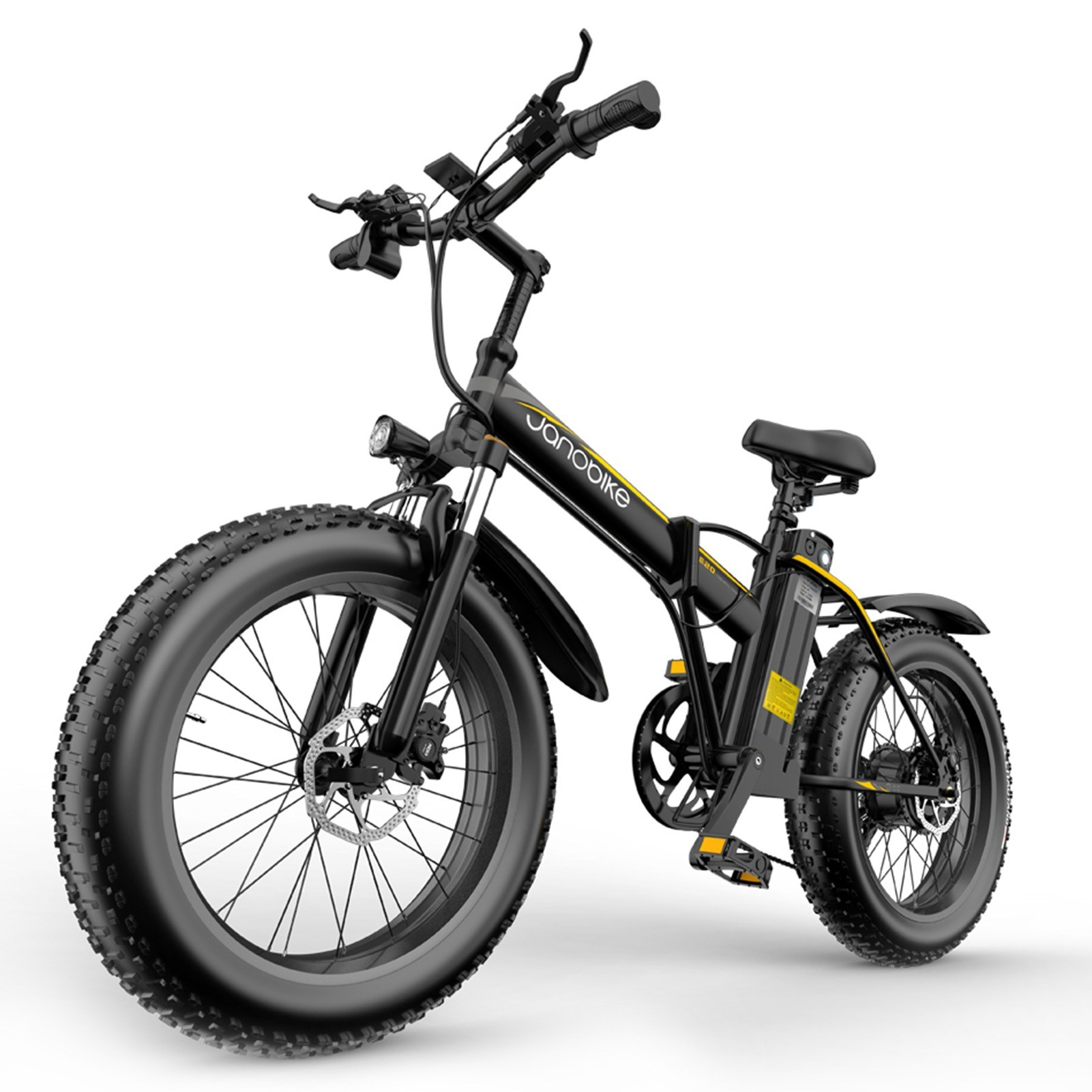 cafago.com - 30% OFF Janobike E20 1000W Electric Mountain Bicycle Bike 12.8AH Removable Battery with Suspension Fork,free shipping+$1301.25