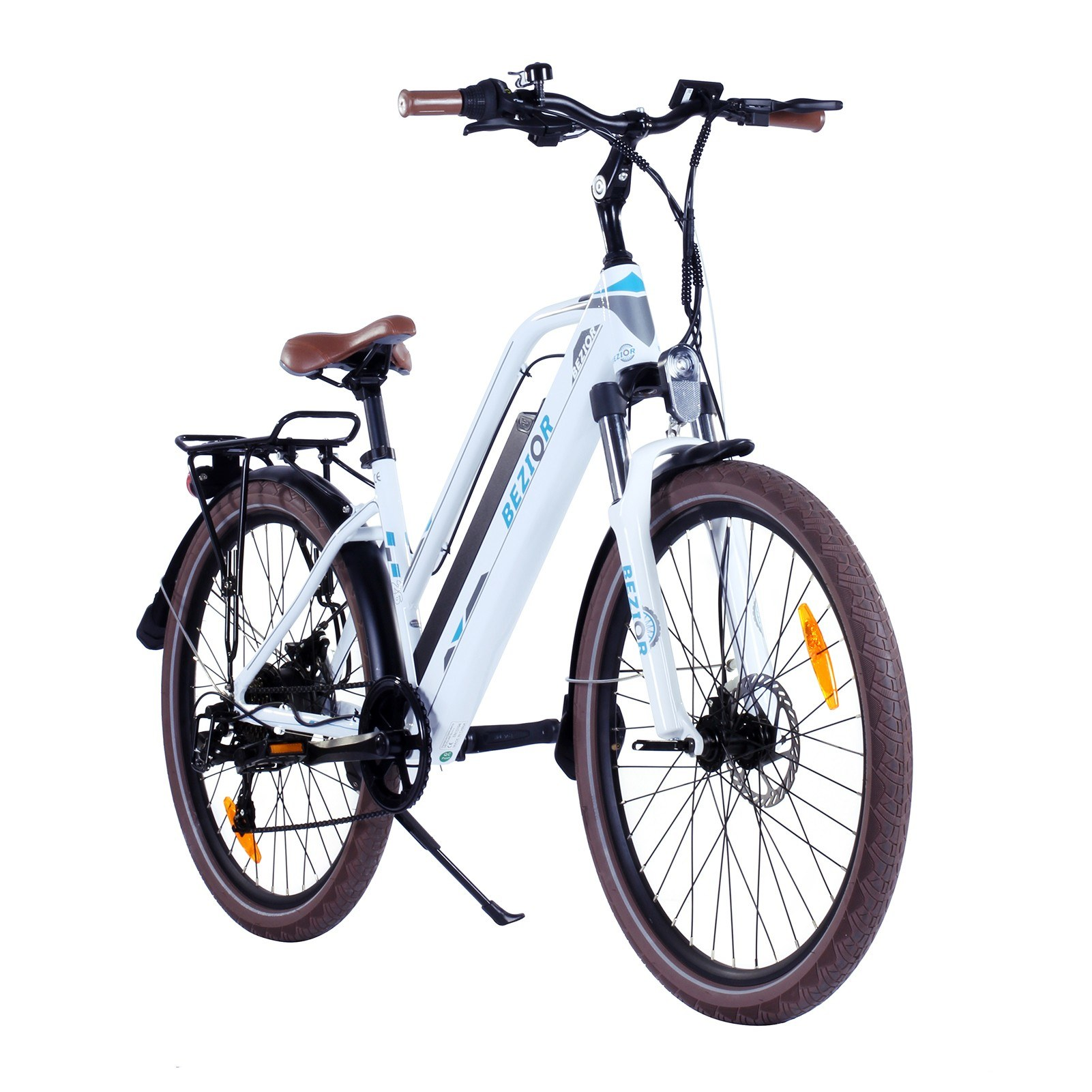 cafago.com - 37% OFF BEZIOR M2 26 Inch 250W Power Assist Electric Bicycle,free shipping+$1106.29