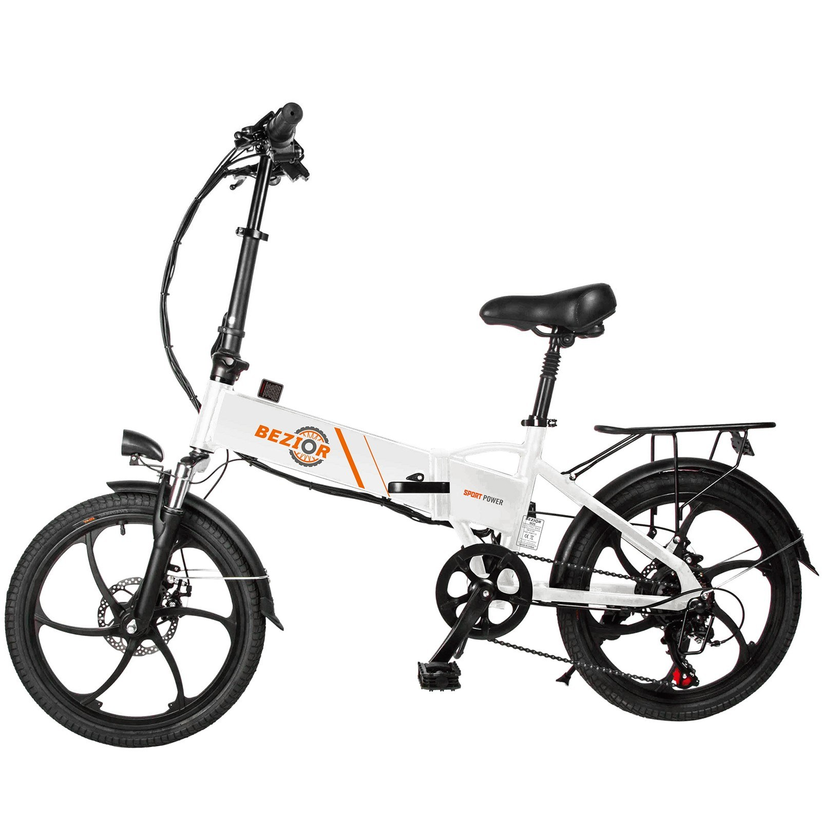 cafago.com - 16% OFF BEZIOR M20 350W 20 Inch Folding Power Assist Electric Bike,free shipping+$825.23