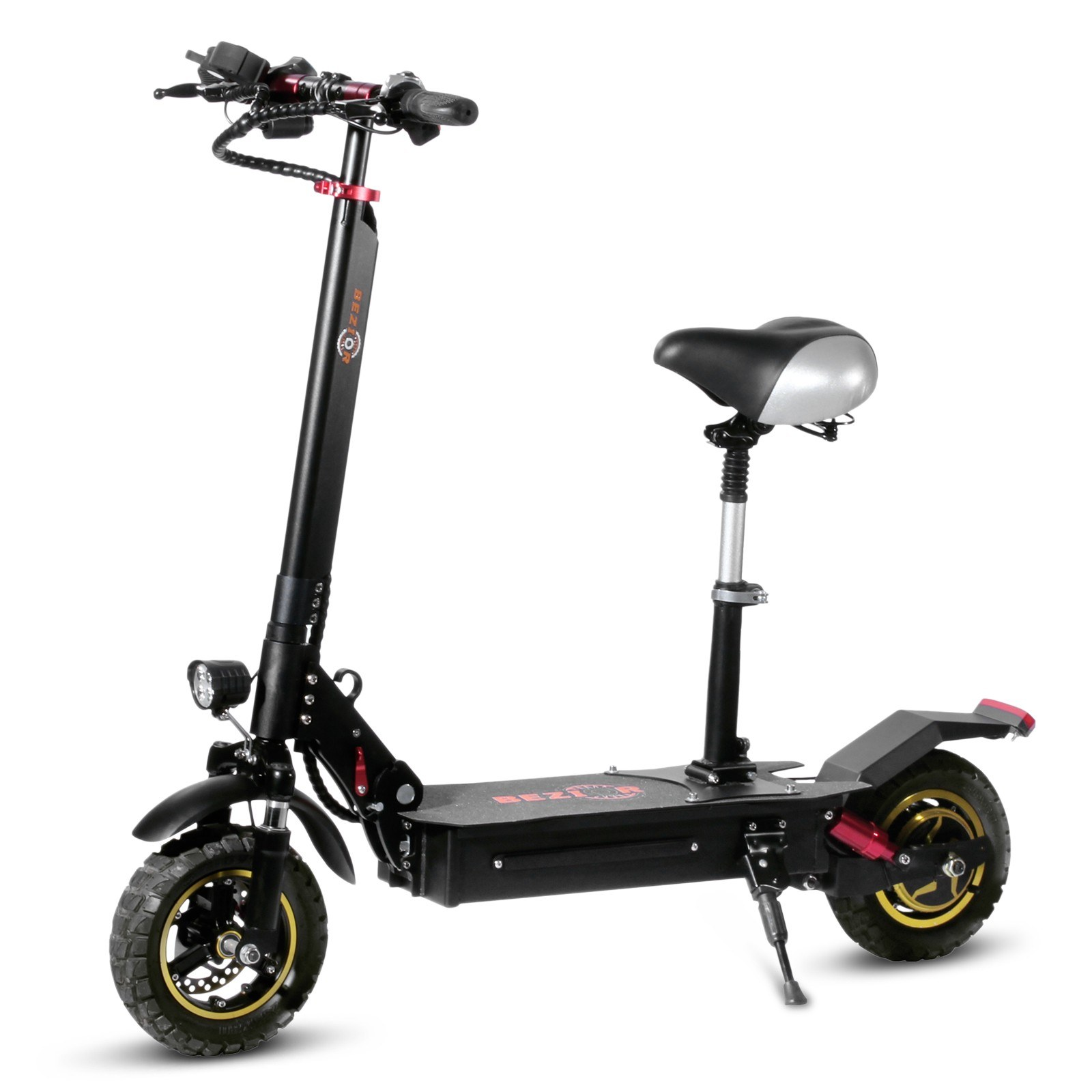 cafago.com - 37% OFF BEZIOR S1 10 Inch Two Wheel Folding Electric Scooter with Saddle Seat,free shipping+$653.00