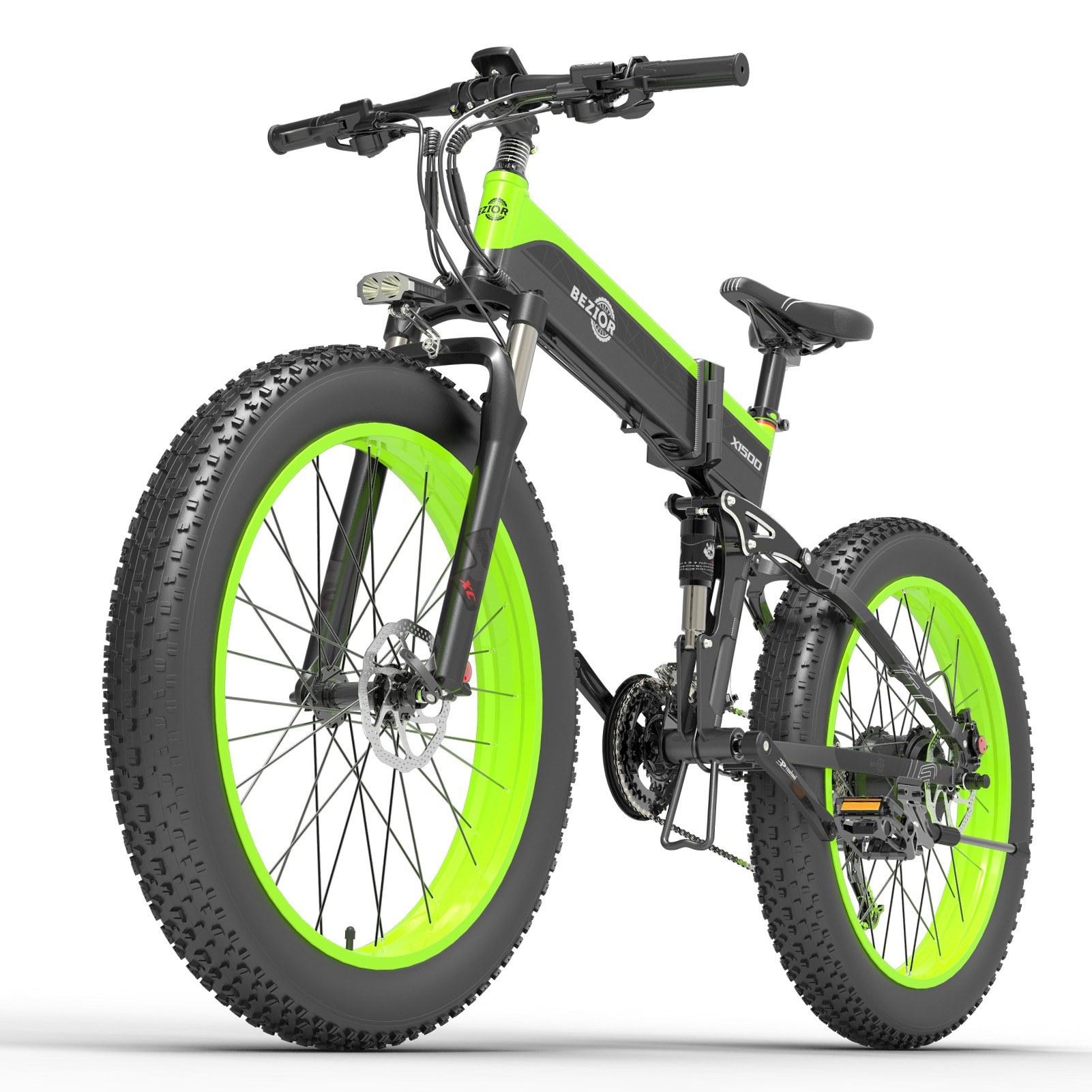 cafago.com - 41% OFF BEZIOR X1500 1500W 26Inch Folding Electric Bike 48V 12.8AH,free shipping+$1554.79