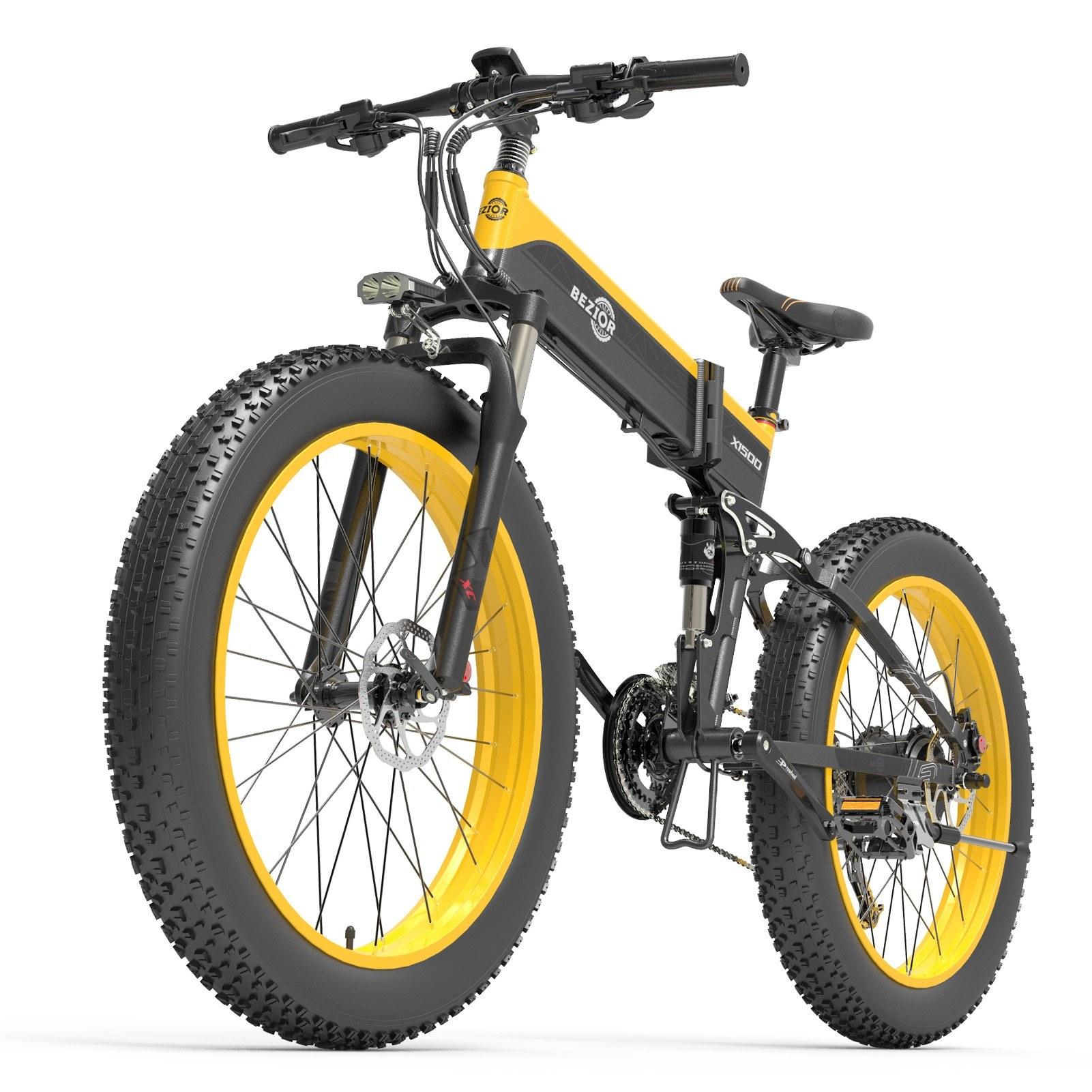Tomtop - [EU Warehouse]$658 OFF BEZIOR X1500 1500W 26Inch Folding Electric Bike 48V 12.8AH, $1529.40 Inclusive of VAT