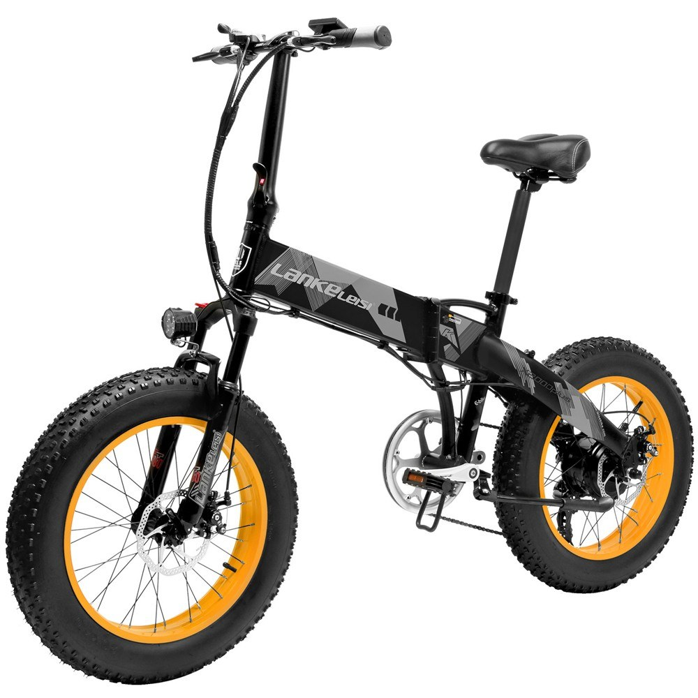 cafago.com - 41% OFF LANKELEISI X2000PLUS 1000W 20 Inch Folding Power Assist Electric Bike,free shipping+$1130.98
