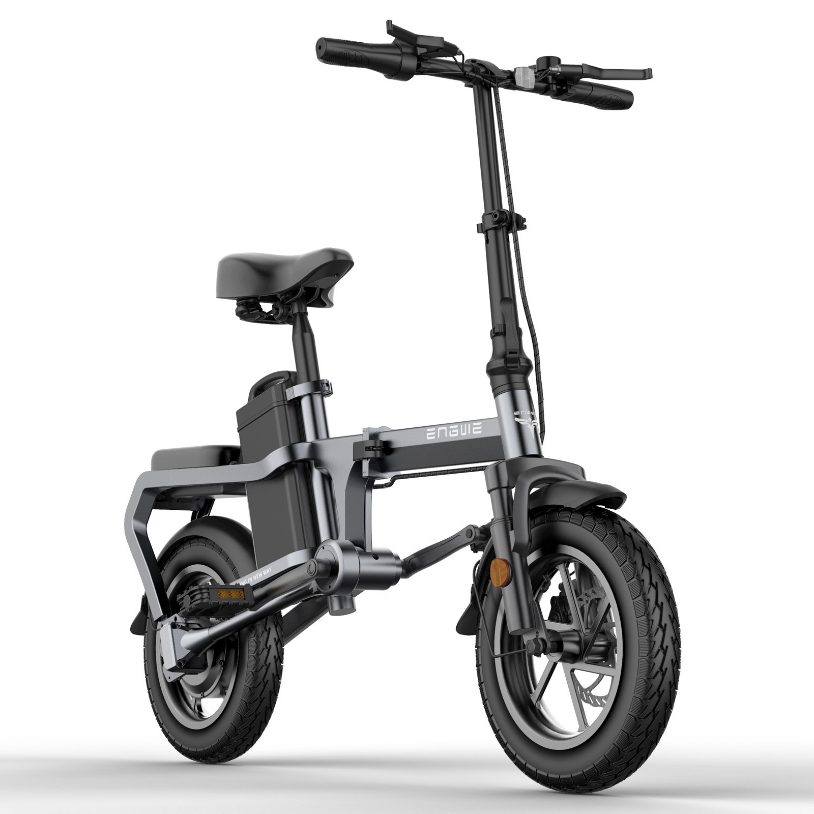 Cafago - 50% OFF ENGWE X5S 350W 14 Inch Folding Electric Bike,free shipping+$825.23