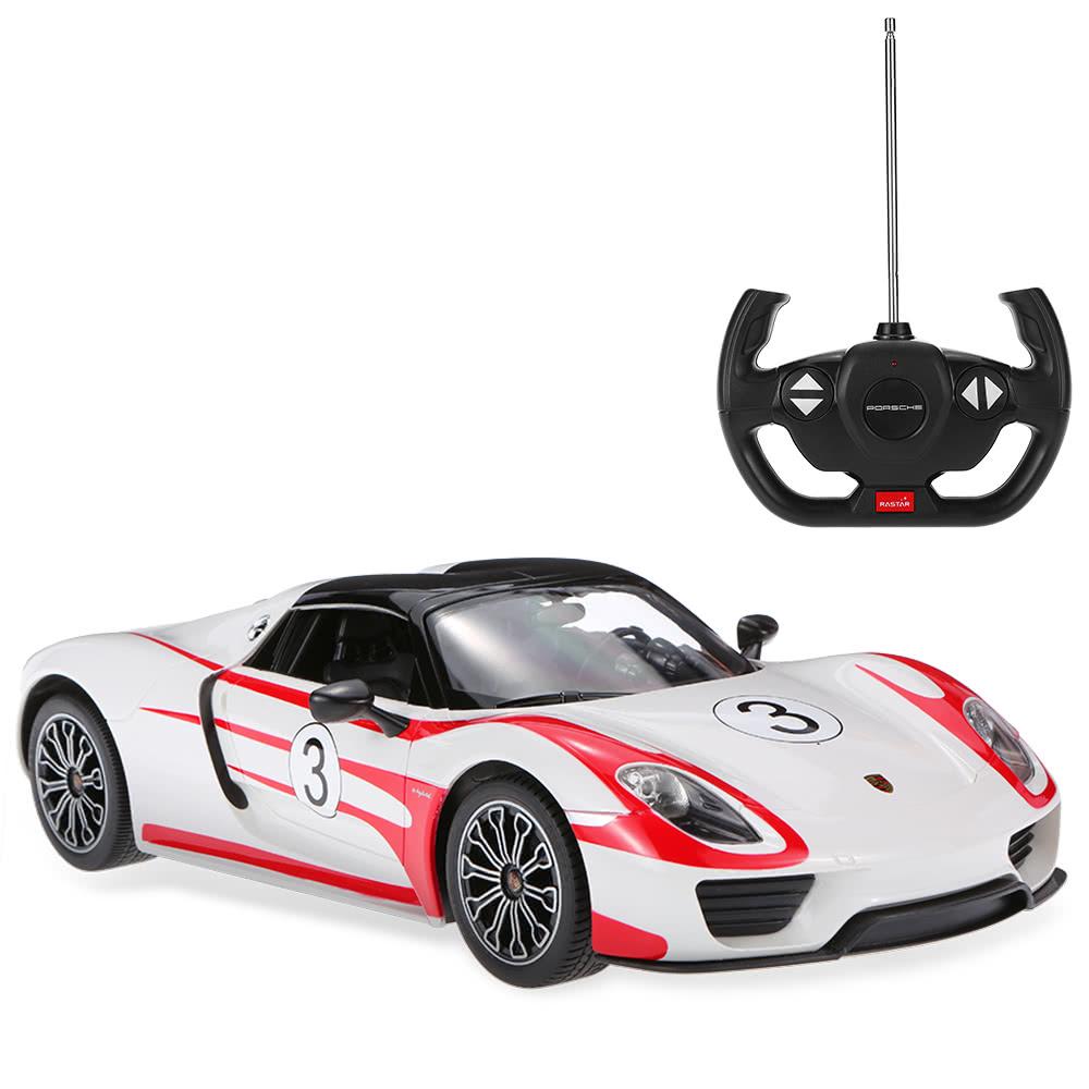 1:14 Licensed Radio Remote Control Porsche 918 Spyder Weissach Sports Car Light