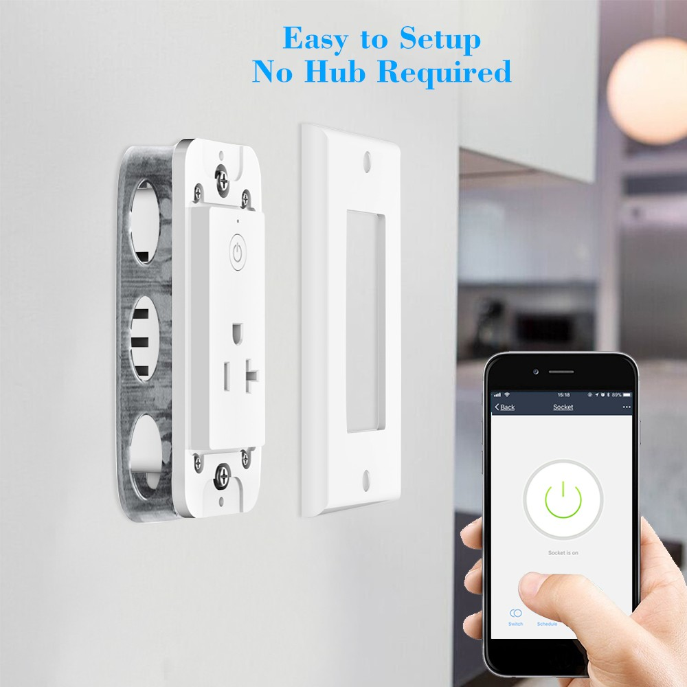 Oittm Smart Wall Outlet WIFI In-Wall Socket Sales Online - Tomtop