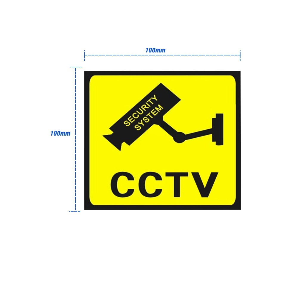 Security CCTV Surveillance Camera Waterproof Sunscreen Sticker Sales Online  yellow&black - Tomtop
