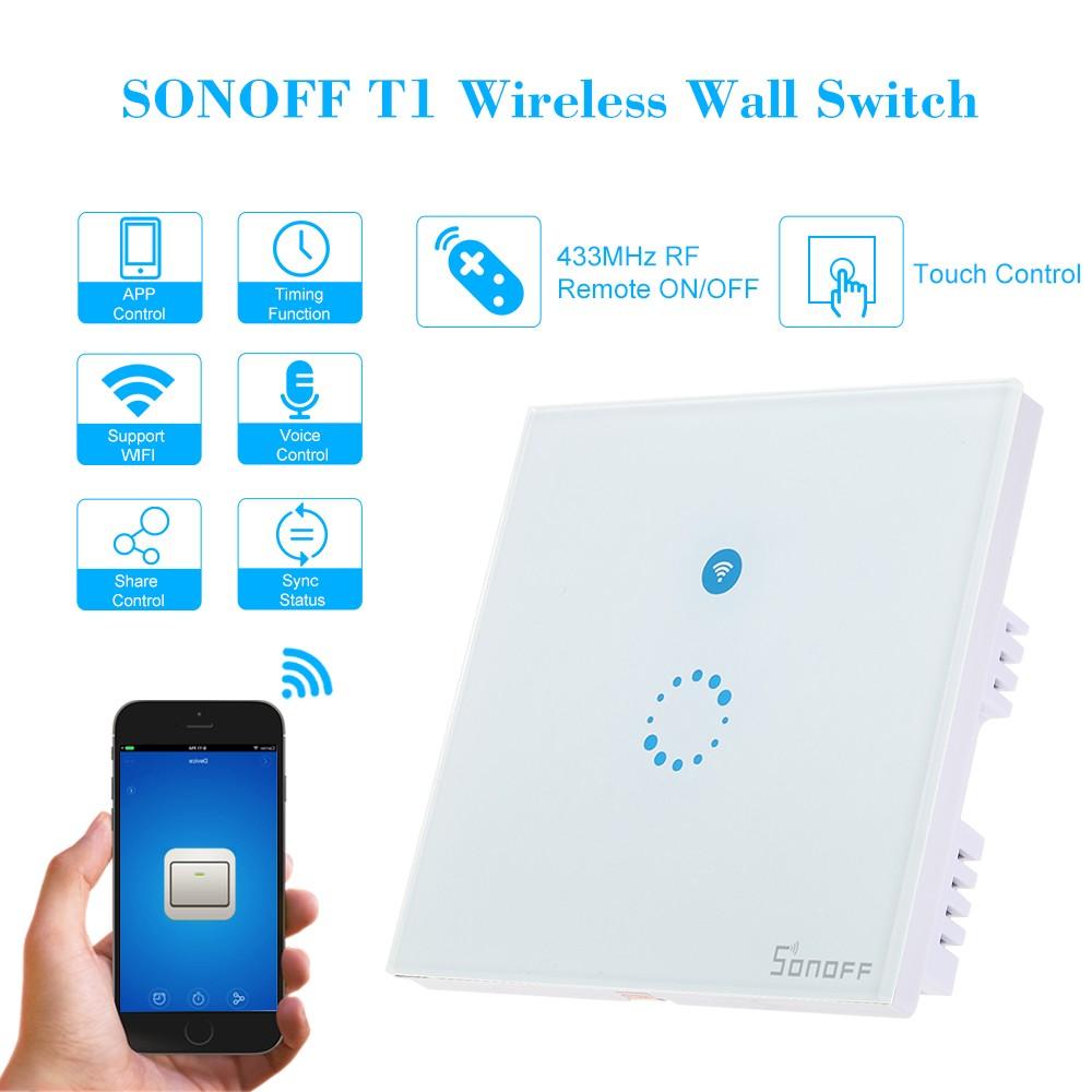 SONOFF T1 1 Gang Smart WiFi Wall Light UK Switch