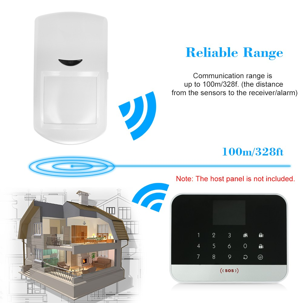 433mhz Wireless Pir Motion Sensor Passive Infrared Detector Sales Intruder Alarm