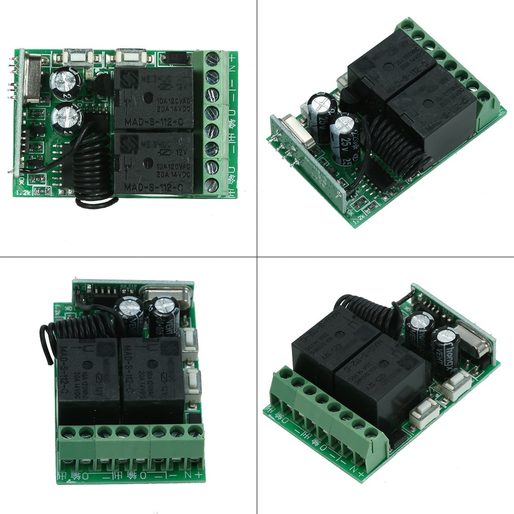 Best 433mhz Dc 12v 2ch Universal 10a Relay Wireless Remote Control Rf433 Rx This A Simple Module Which Operates At The Switch Receiver And 1pcs 2 Key Rf