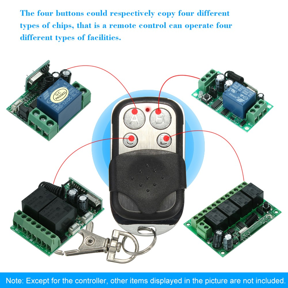 Security & Protection Access Control Kits 433mhz Wireless Remote Control Copy Code 4 Buttons Touch Switch Copying Transmitter Cloning Duplicator Garage Opener Control Key