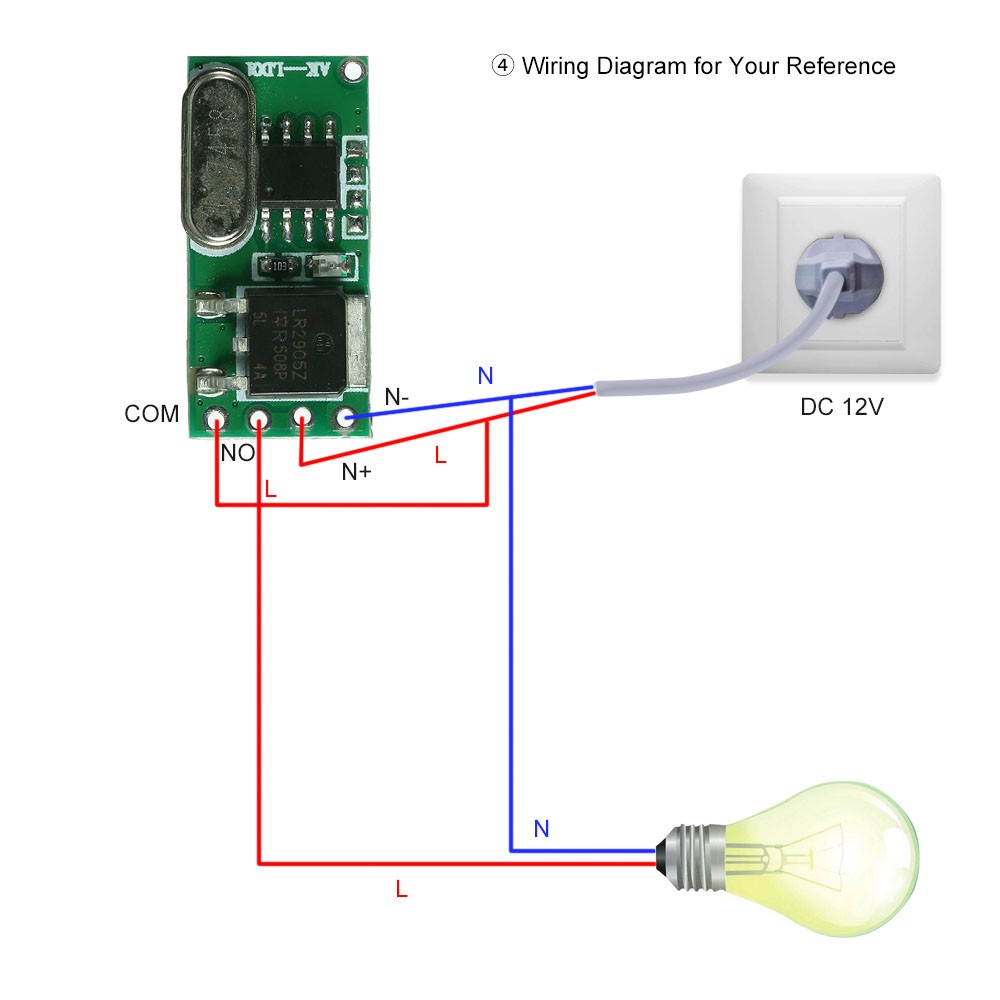 433mhz Dc 5 18v Universal Receiver Module Rf Remote Control Switch 4 Channel Transmitter Circuit Cy046 Buy Relay