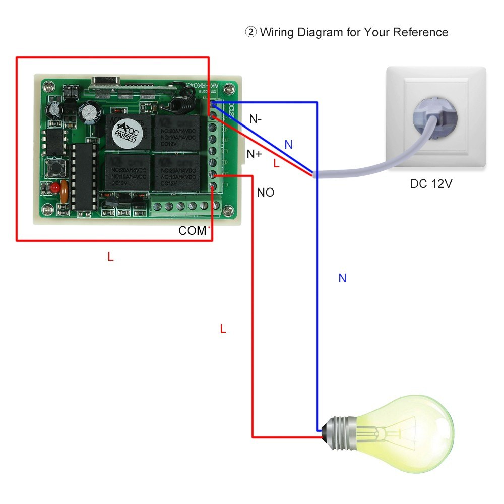 Wireless Remote Control Switch Receiver Module And 1pcs 4 Key Rf 433 433mhz Transmitter Circuit Diagram Mhz Controls Sales Online 1 Tomtop
