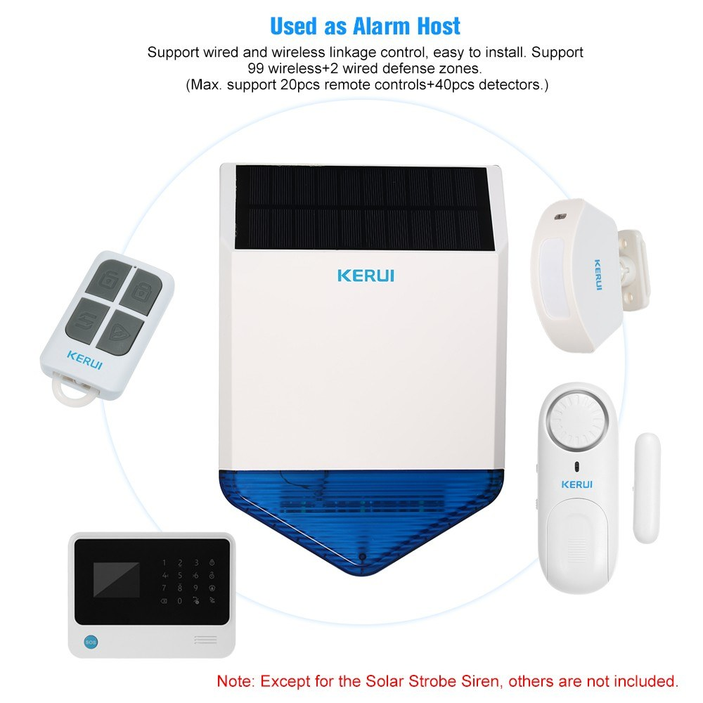 Kerui Wireless 433hmz Solar Powered Strobe Siren Panel Sales Online Electronic 1 Mounting Bracket Set Of Screws User Manual