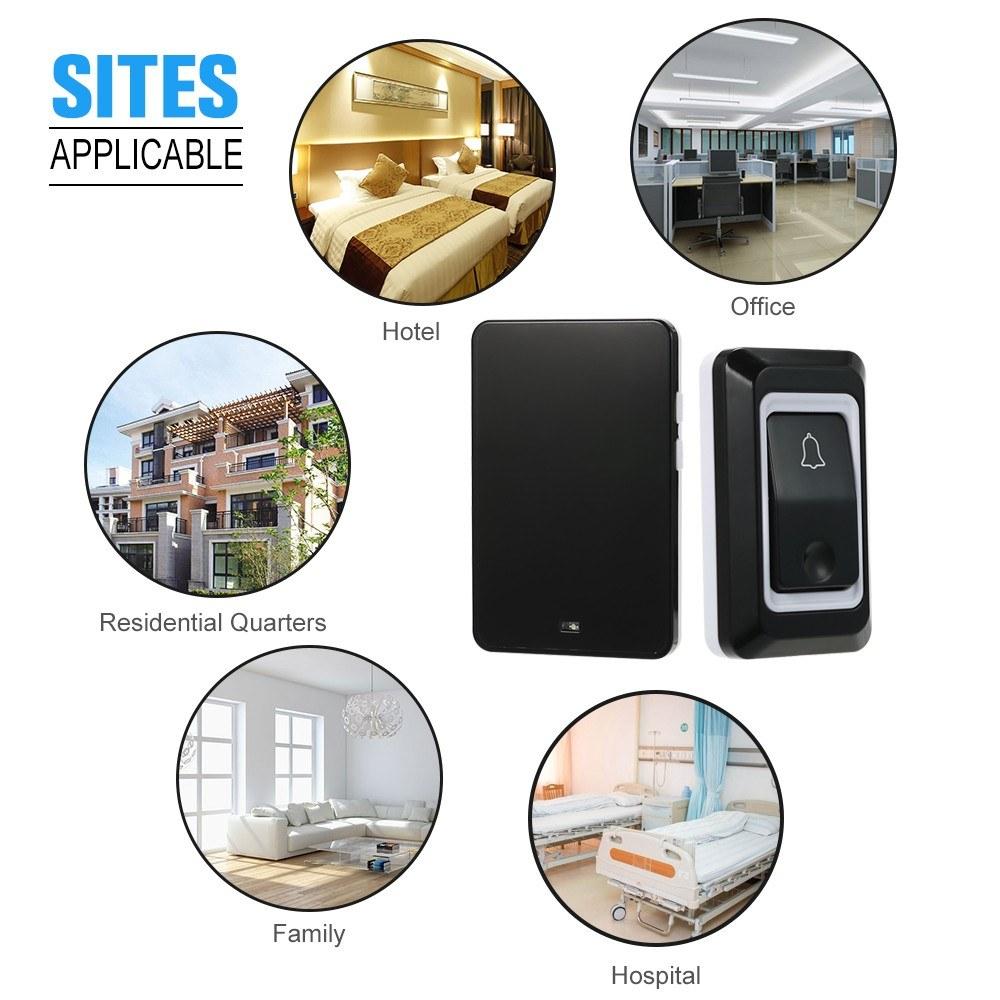 Wireless Ac Doorbell With Push Button Smart Ding Dong Sales Online 1 Eu Tomtop Residential Door Bell Installation