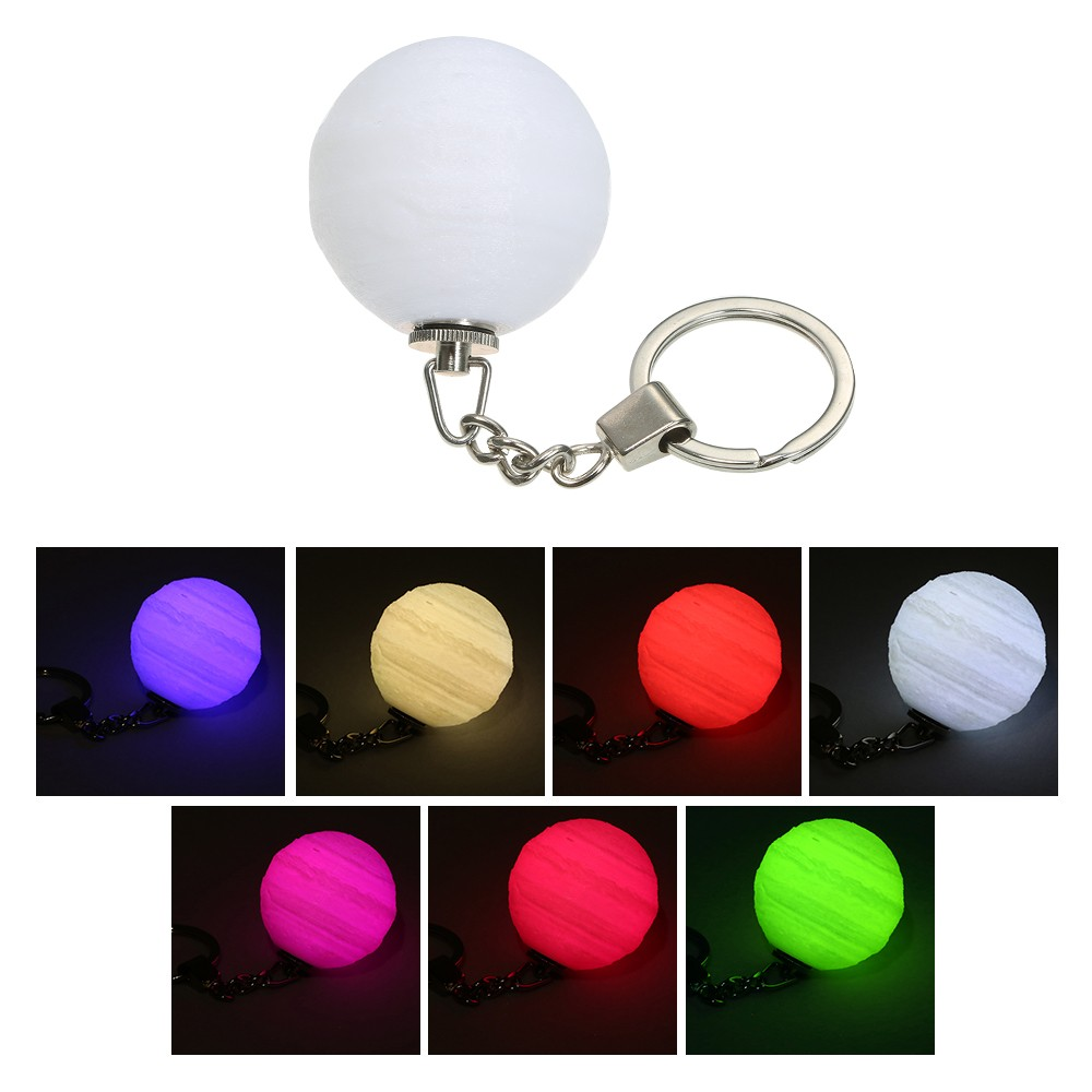 3D Printing Night Light Key Chain Creative Jupiter Light Colorful LED  Magical Lamp Lighting Decoration Gift Sales Online 1 - Tomtop