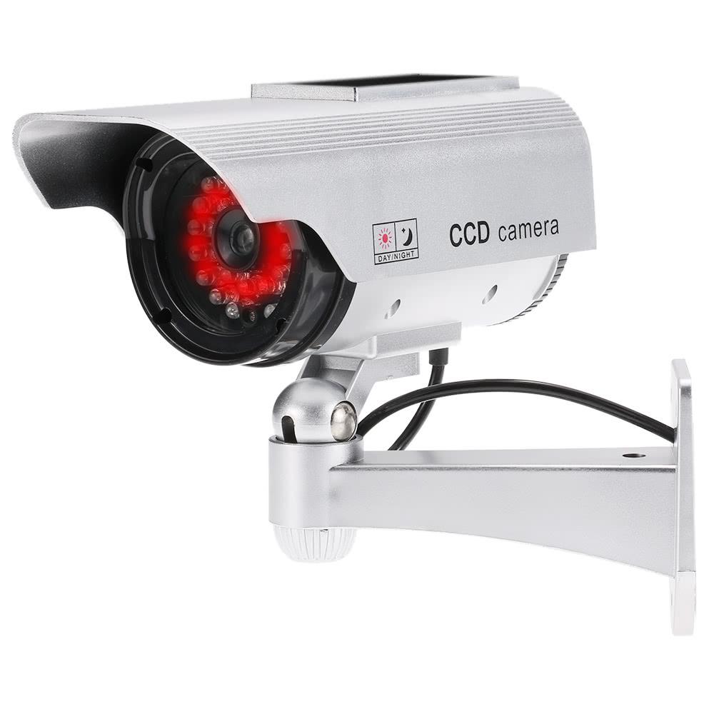 Simulation bullet camera solar powered fake dummy for Motorized security camera system