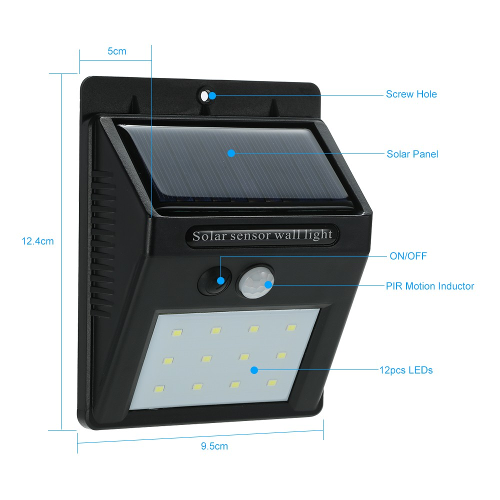 $2.18 OFF Solar PIR Motion Sensor Night Lights,free shipping $7.71