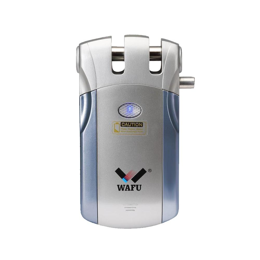 WAFU WF-018U Wireless Remote Control Lock Security Invisible Keyless Intelligent Lock Zinc Alloy Metal Smart Door Lock iOS Android APP Unlocking 2 Remote Keys Smart Home Villa Office Access Control Security System