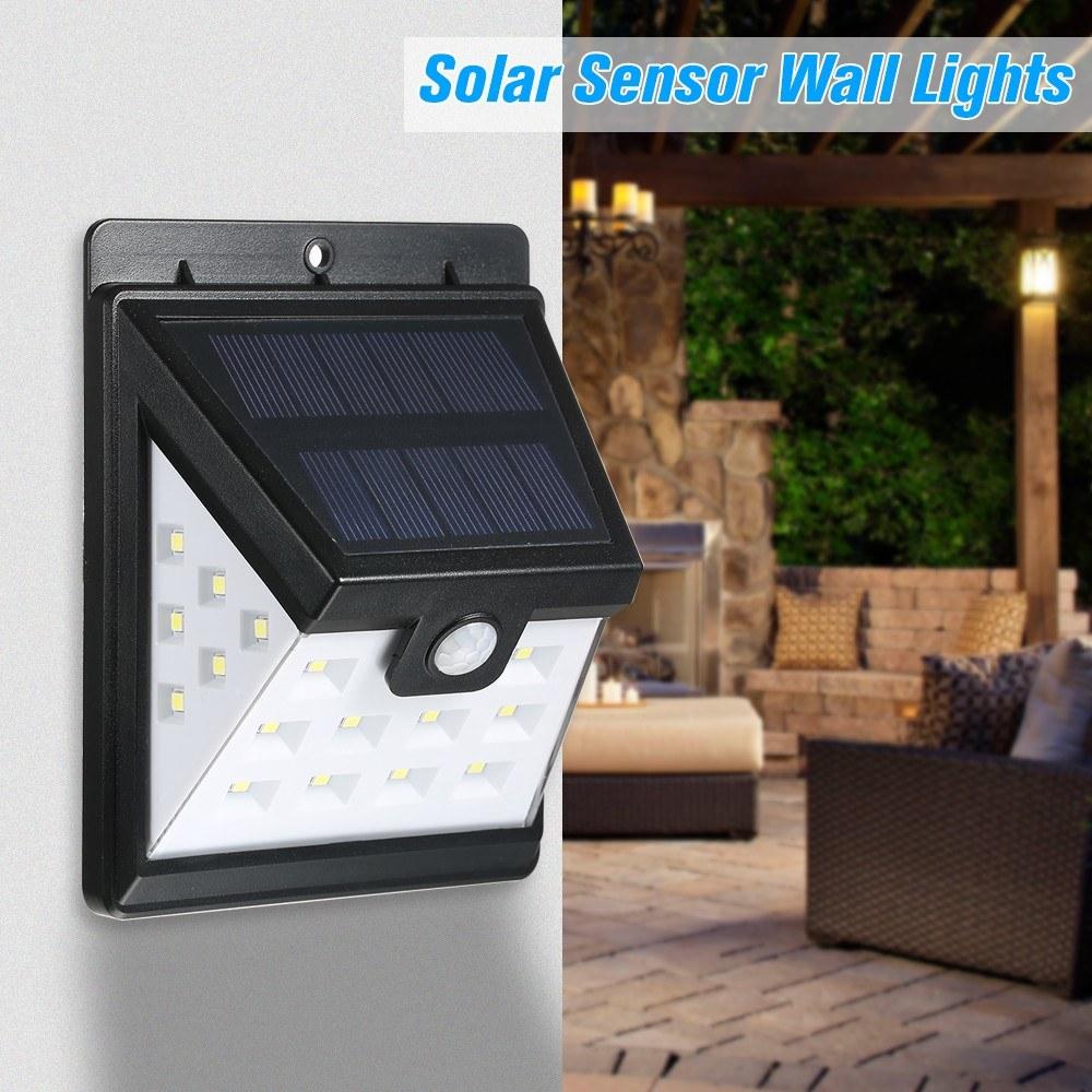Solar Sensor Wall Lights Super Split 22led Waterproof Powered No Wiring Wirless Led Pir Motion Light Lamp For Energy Saving Night Garden Fence Patio Driveway Sales