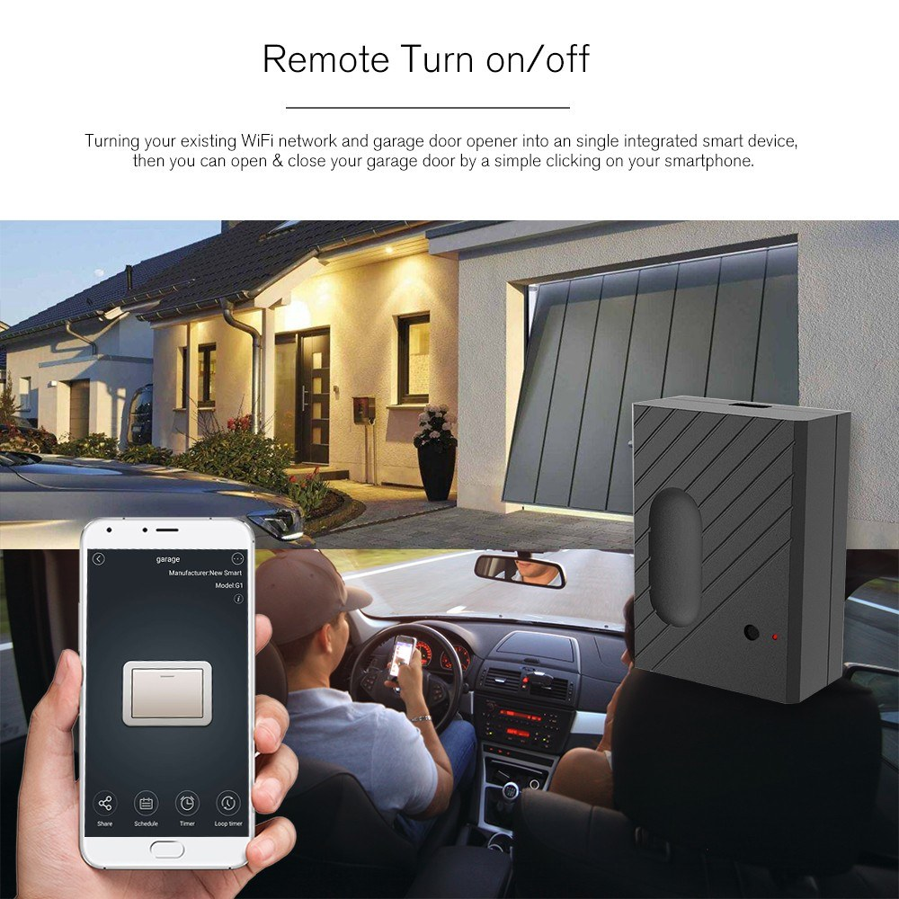 Wifi Smart Switch Garage Door Controller Compatible Garage Door