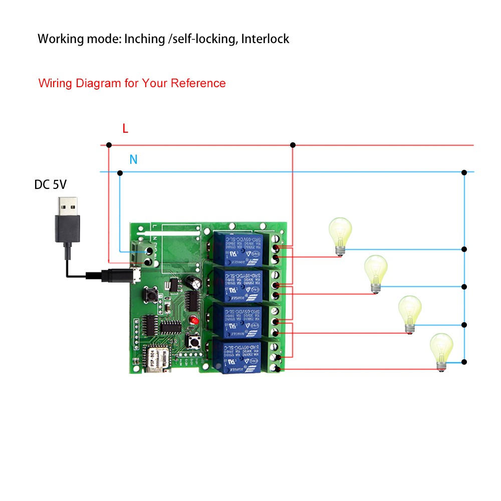 Sonoff 4ch Dc 5v Smart Remote Control Wireless Switch Universal Component Circuit What Do I Need Module
