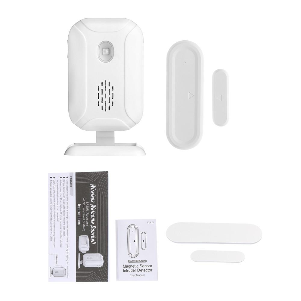 Wireless Welcome Doorbell with Door Sensor Sales Online - Tomtop